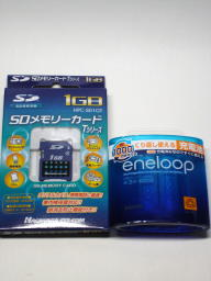 SDメモリーカードとエネループ